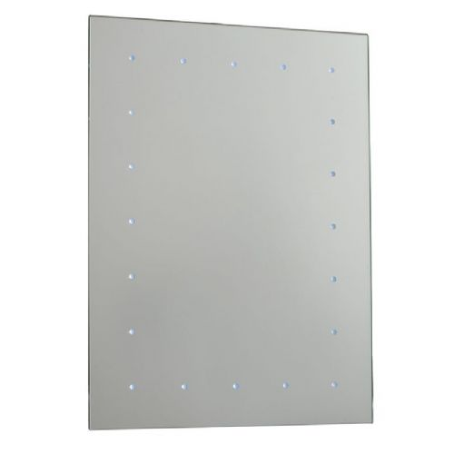 LED Mirrored glass & gloss white IP44 Bathroom Mirror Light 51898 by Endon